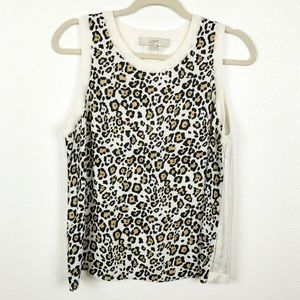 Ann Taylor Loft Cheetah Print Knitted Top | Medium